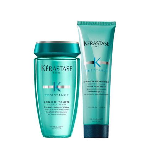 Kerastase Résistance Extentioniste Shampooing 250ml Gel Crème Protection Thérmique 150ml
