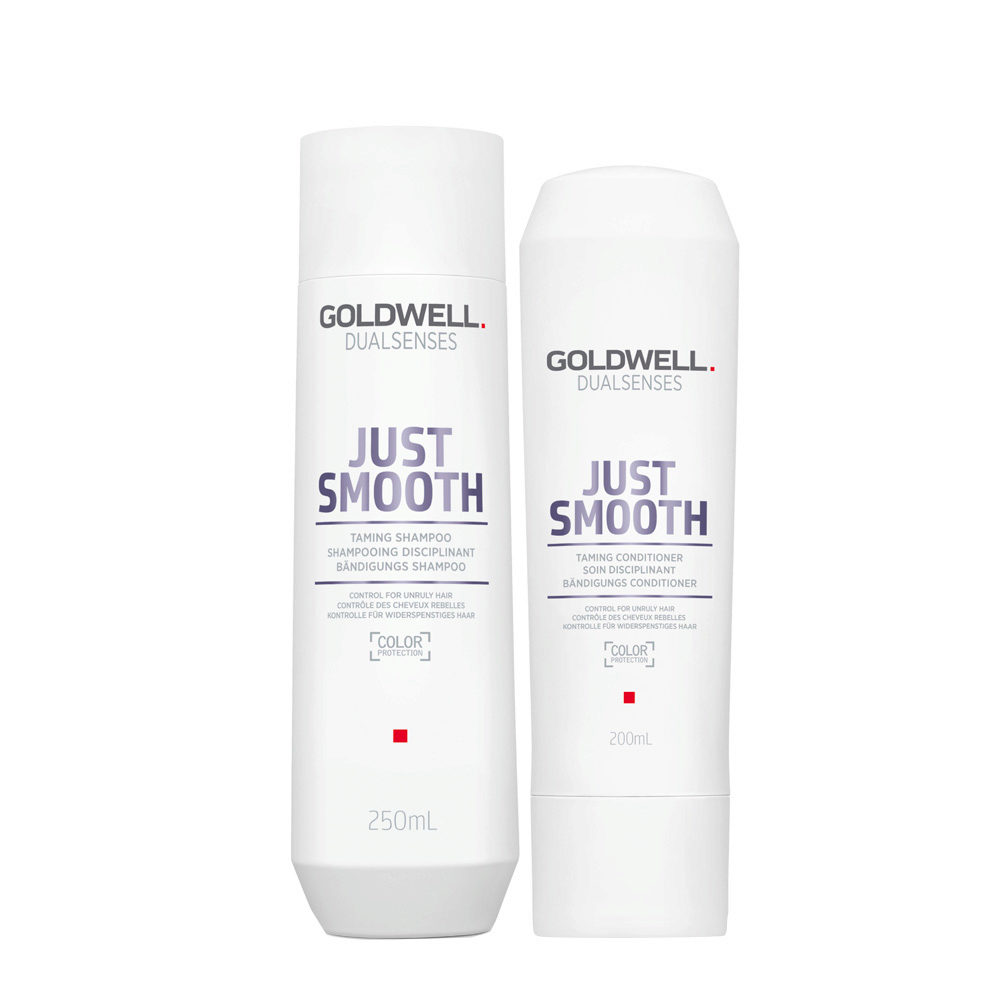 Goldwell Dualsenses Just Smooth Shampooing Disciplinant 250ml et Apres-shampooing 200ml
