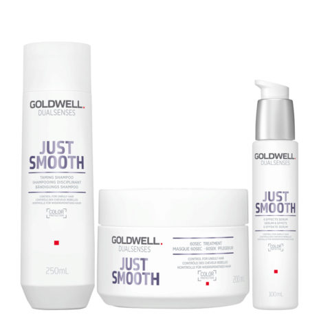 Goldwell Dualsenses Just Smooth Shampooing Disciplinant 250ml Masque 200ml Serum 100ml