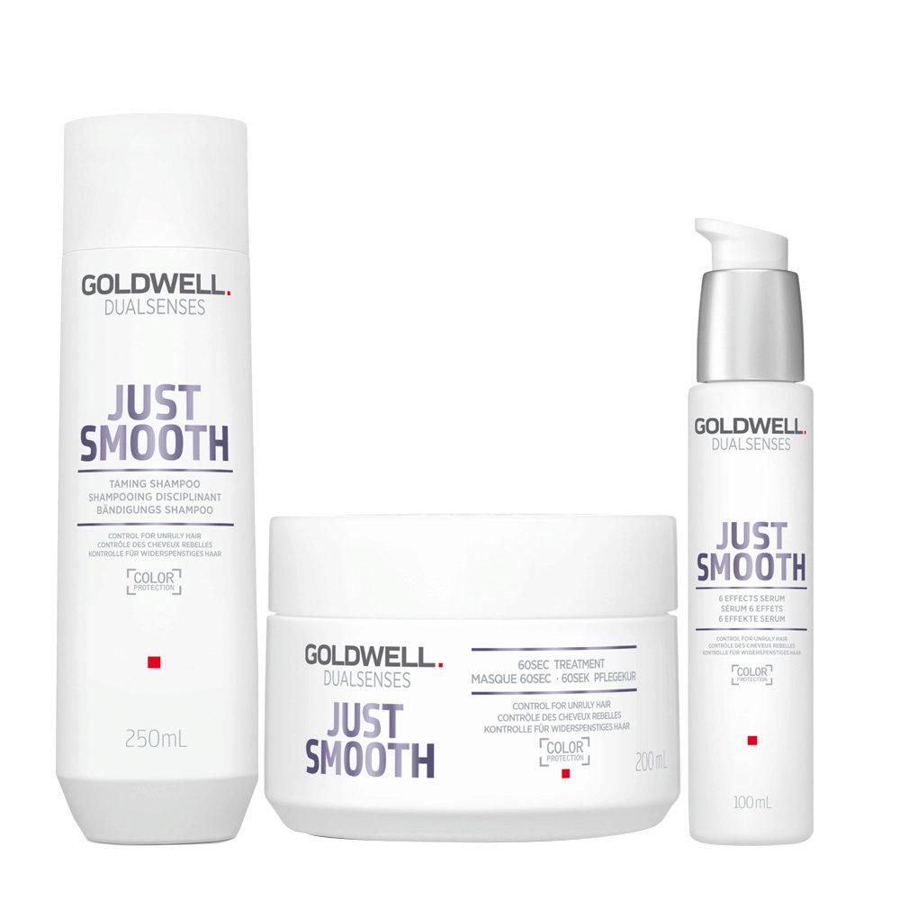Goldwell Dualsenses Just Smooth Shampooing Disciplinant 250ml Masque 200ml Serum 100ml