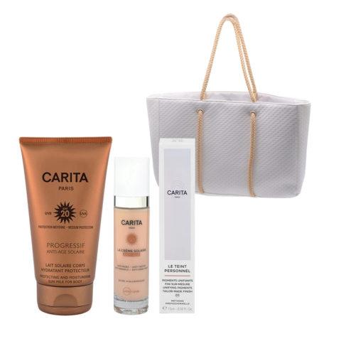Carita Body Sun Protection SPF20, 150ml Face Protection SPF50+, 50ml Pigments liquides 01 Light 15ml