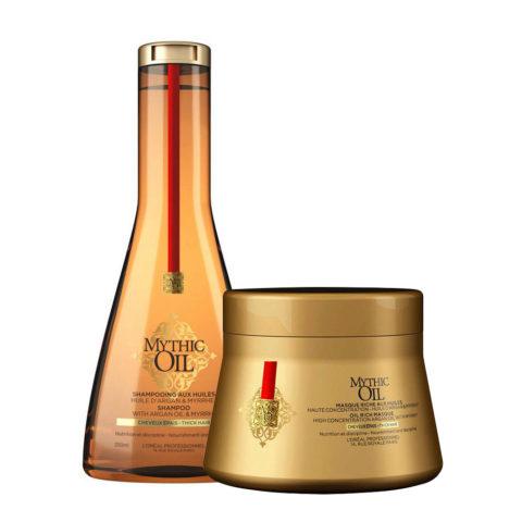 L'Oreal Mythic oil Shampoo 250ml Masque 200ml Cheveux épais