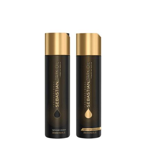 Sebastian Dark Oil Shampooing Hydratant Léger 250ml et Apres Shampooing 250ml