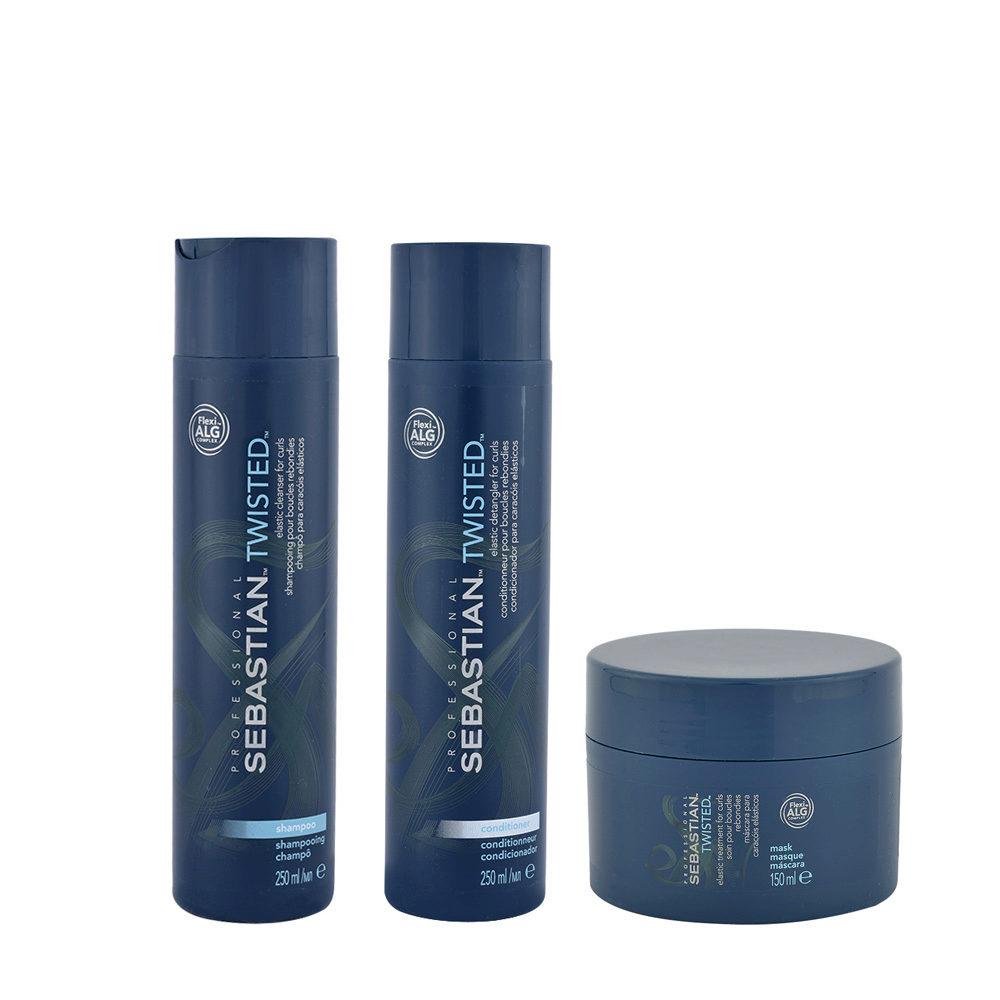 Sebastian Twisted Shampooing 250ml Apres Shampooing 250ml Masque 150ml Cheveux Boucles