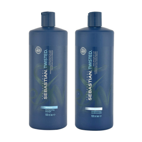 Sebastian Twisted Shampooing 1000ml Apres Shampooing 1000ml pour Cheveux Boucles