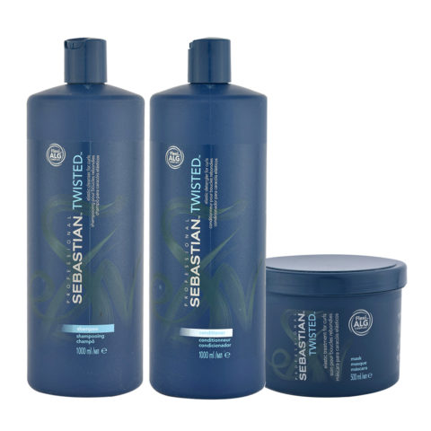 Sebastian Twisted Shampooing 1000ml Apres Shampooing 1000ml Masque 500ml Cheveux Boucles