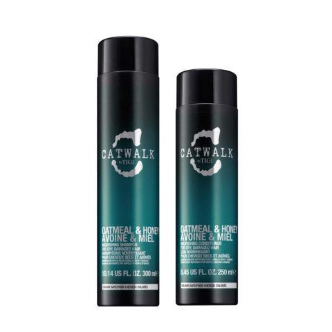 Tigi Catwalk Kit Shampoo 300ml Apres Shampooing 250ml Pour Cheveux Secs