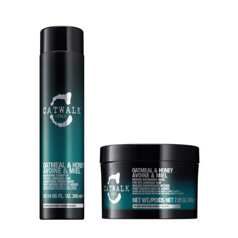 Tigi Catwalk Kit Shampoo 300ml Masque 200gr Pour Cheveux Secs