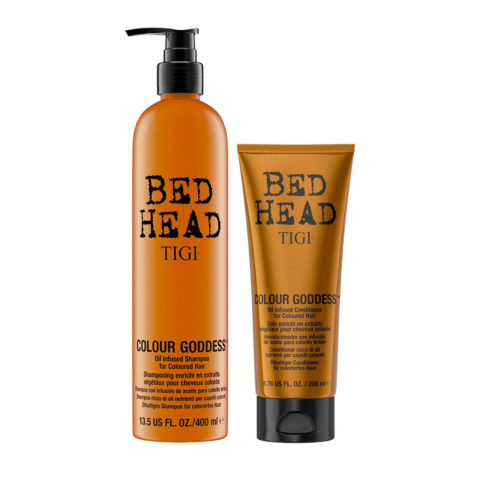 Tigi Bed Head Colour Goddess Oil infused Shampoo 400ml Apres Shampooing 200ml Cheveux Colores