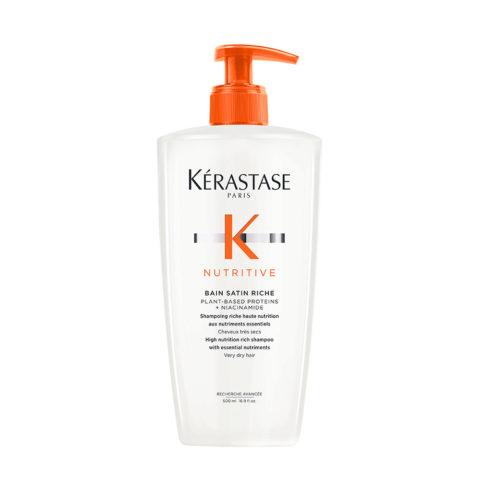 Kerastase Nutritive Bain satin 2, 500ml - shampooing pour cheveux secs et sensibilisés