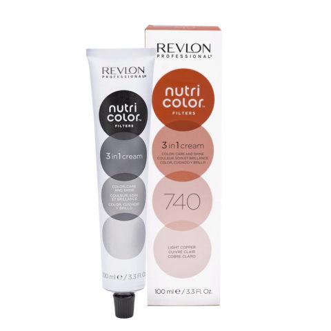 Revlon Nutri Color Creme 740 Cuivré clair 100ml - masque couleur