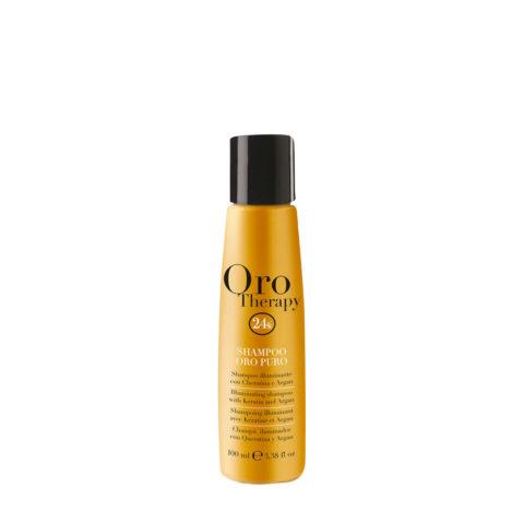 Fanola Oro Therapy Oro Puro Shampooing Pour Tous Types de Cheveux 100ml