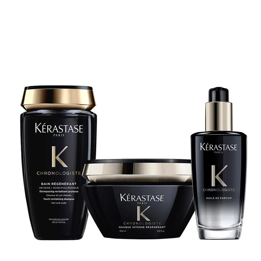 Kerastase Chronologiste Shampoo 250ml Masque 200ml Huile Parfumée Pour Cheveux 100ml