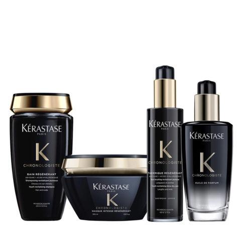 Kerastase Chronologiste Shampoo 250ml Masque 200ml Crème 150ml Huile 100ml