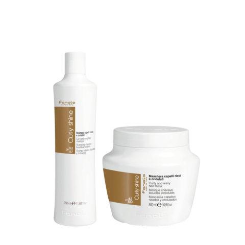 Fanola Curly Shampoo 350ml Et Masque 500ml Pour Cheveux Bouclés