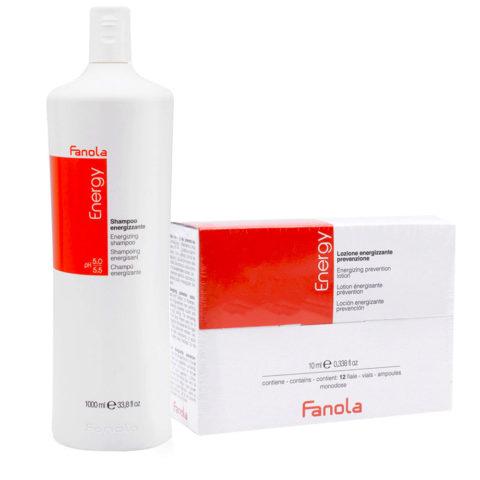 Fanola Shampooing Antichute 1000ml Et Ampoules 12x10ml