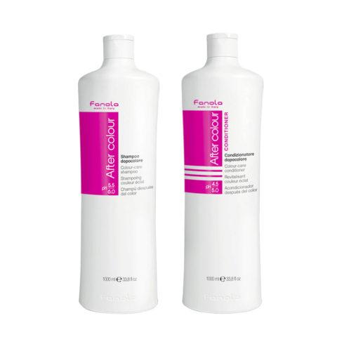 Fanola After Color Shampoo 1000ml Et Après - Shampooing 1000ml Pour Les Cheveux Colorés