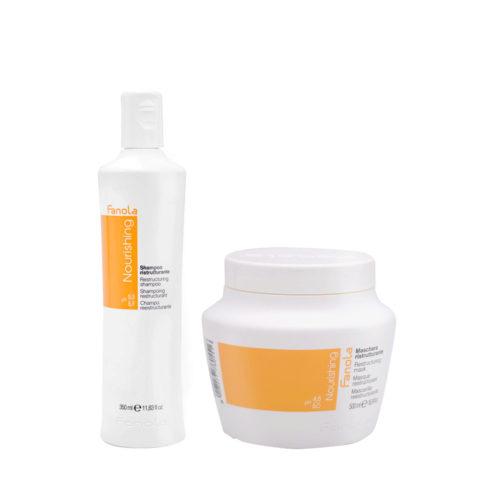 Fanola Nutri Care Shampooing 350ml Et Masque 500ml Pour Les Cheveux Abimés
