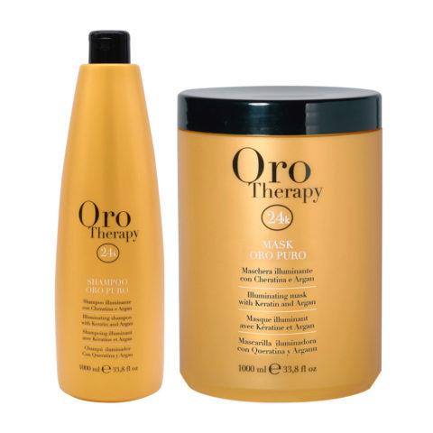 Fanola Oro Puro Shampooing 1000ml Et Masque 1000ml