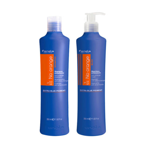 Fanola Anti - Orange Shampooing 350ml Et Après - Shampooing 350ml Cheveux Chatain