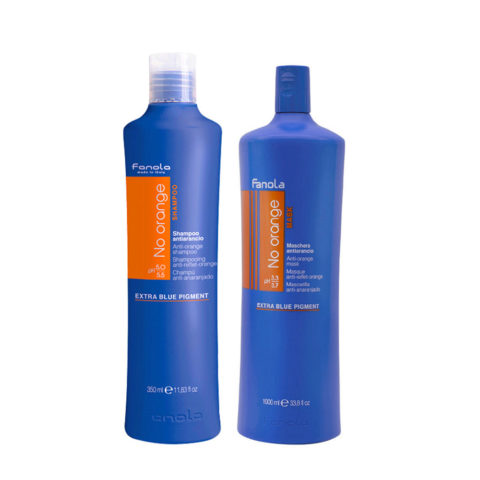 Fanola Anti - Orange Shampooing 1000ml Et Après - Shampooing 1000ml Cheveux Chatain