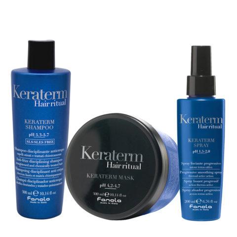 Fanola Keraterm Antifrisottis Shampooing 300ml Masque 300ml Spray 200ml