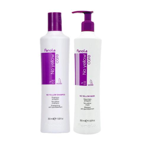 Fanola Shampooing 350ml Et Masque 350ml Pour Les Cheveux Blonds