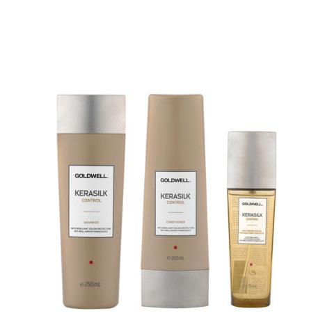 Kerasilk Control Anti-frisottis Shampooing 250ml Conditioner 200ml Huile 75ml