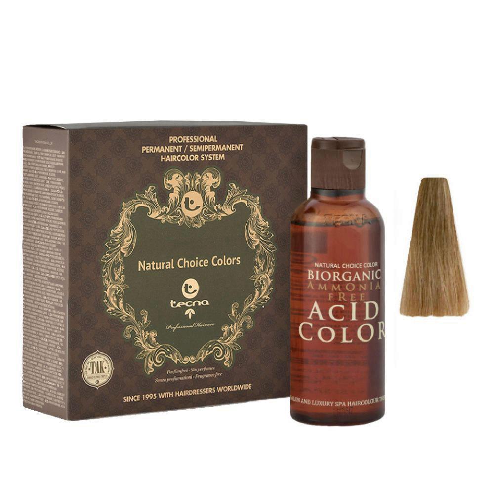 8.32 Blond clair doré naturel Tecna NCC Biorganic acid color 3x130ml