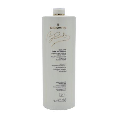 Medavita Blondie Ice Shampooing Illuminateur Pour Blond Froid 1250ml