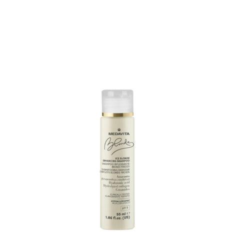 Medavita Blondie Ice Shampooing Illuminateur Pour Blond Froid 55ml