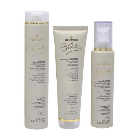 Medavita Blondie Shampooing 250ml Masque 150ml Crème Hydratante Cheveux Epais 150ml