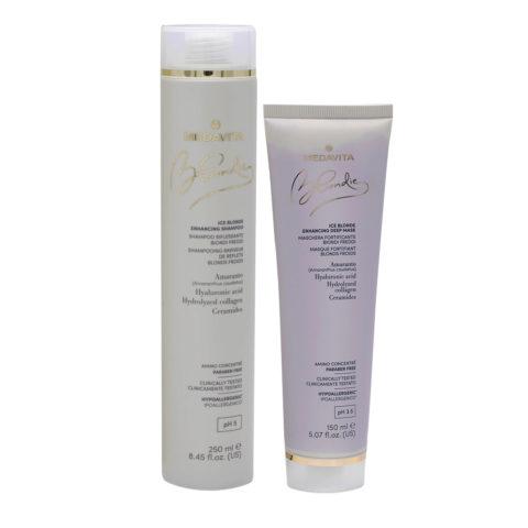 Medavita Blondie Ice Shampooing Illuminateur 250ml Et Masque 150ml Blond Froid