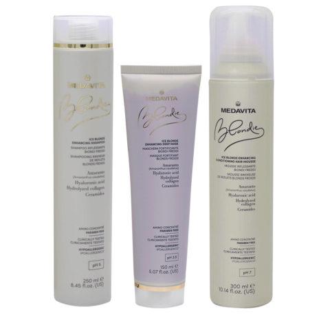 Medavita Blondie Ice Shampooing 250ml Masque 150ml Mousse 300ml