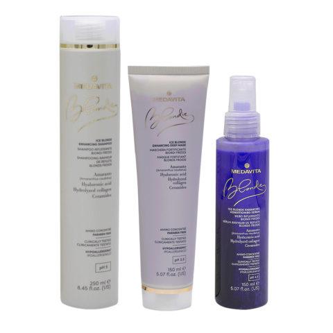 Medavita Blondie Ice Shampooing 250ml Masque 150ml Sérum 150ml