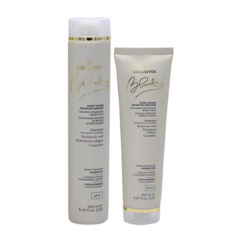 Medavita Blondie Sunset Shampooing 250ml Masque 150ml Blond Chaud