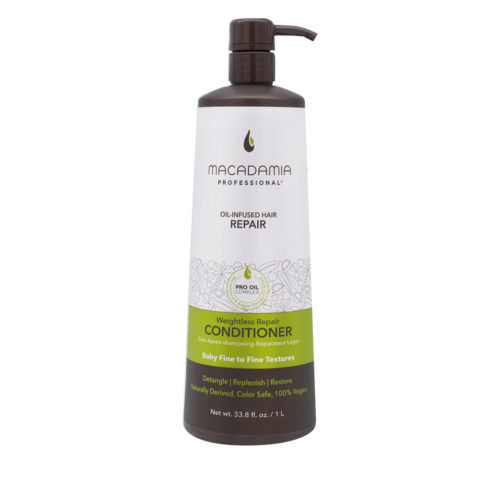 Macadamia Weightless Repair  Conditioner 1000ml  - après-shampooing hydratant léger