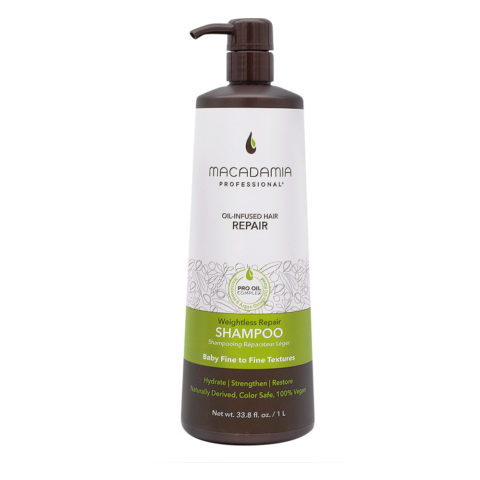 Macadamia Weightless Repair  Shampoo 1000ml - Shampooing  hydratant léger