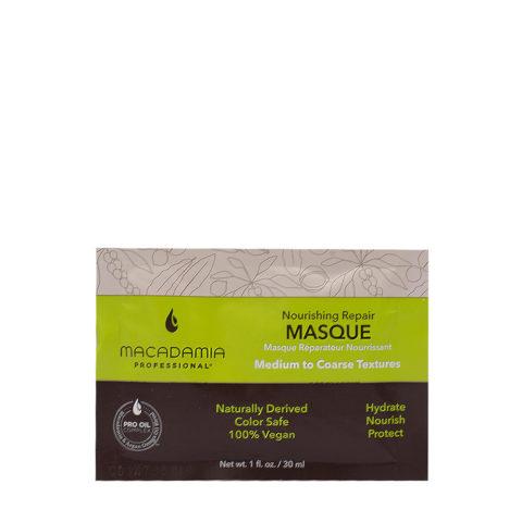 Macadamia Nourishing Repair Masque 30ml - Masque hydratant nutritif pour cheveux  moyens à épais
