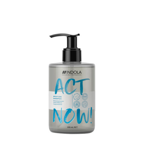 Indola Act Now! Moisture Shampooing Pour Cheveux Secs 300ml