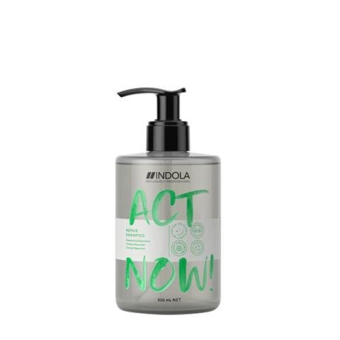 Indola Act Now! Repair Shampooing Pour Les Cheveux Abimés 300ml