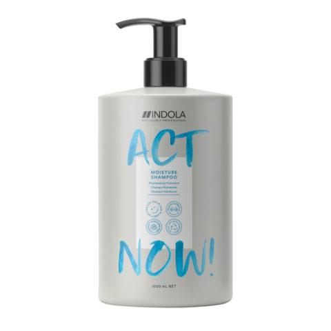 Indola Act Now! Moisture Shampooing Pour Cheveux Secs 1000ml