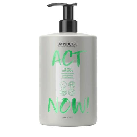 Indola Act Now! Repair Shampooing Pour Les Cheveux Abimés 1000ml