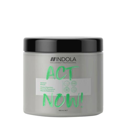 Indola Act Now! Repair Masque Cheveux Abîmés 650ml