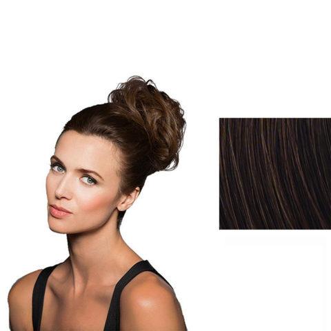 Hairdo Fancy Do Élastique Cheveux Brun Auburn Moyen avec stries