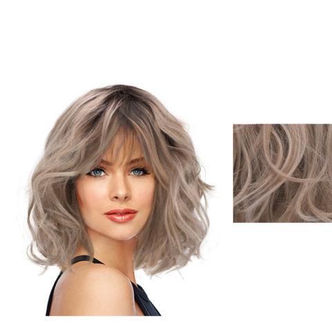 Hairdo On The Edge Perruque blonde cendrée claire avec racine brune