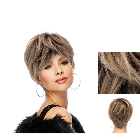 Hairdo Sweet Pixie Perruque blonde claire avec racine brune