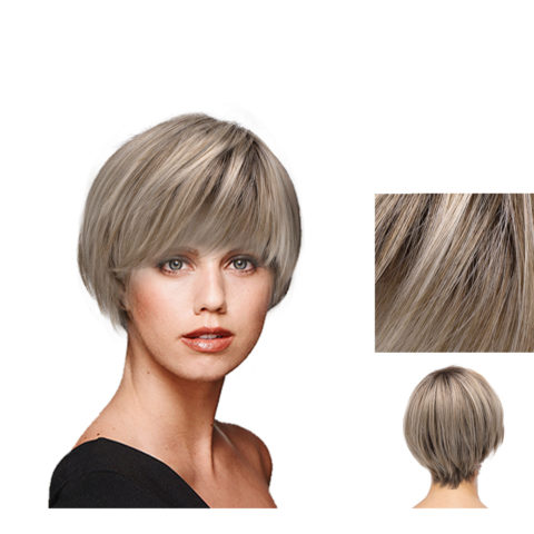 Hairdo Short & Sleek Perruque blonde cendrée claire avec racine brune