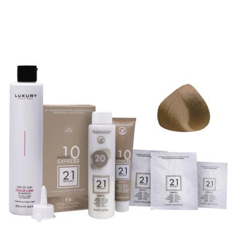 21 Ventuno Kit Couleur Professionnel 9.0 Blond Très Clair + Shampooing Gratuit 250ml