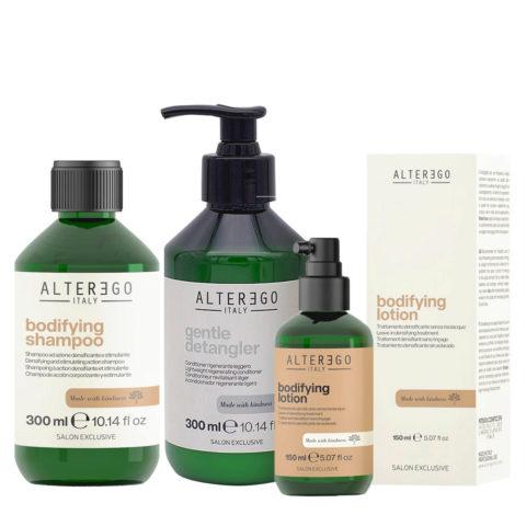 Alterego Set Shampooing Cheveux Fins 300ml Revitalisant 300ml Lotion épaississante 150ml